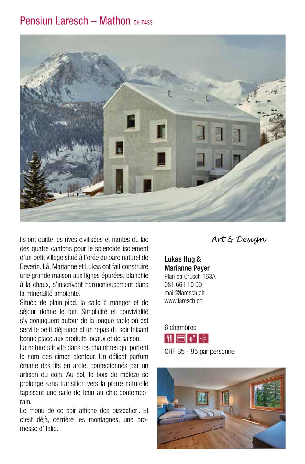 Guide des chambres d h tes de charme en suisse for Guide chambre hote